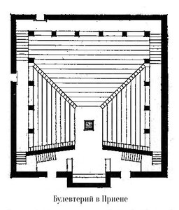 Булевтерий в Приене, план