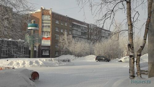Фото города Инта №6433  Куратова 36 и 34 (-22 градуса) 07.02.2014_11:54
