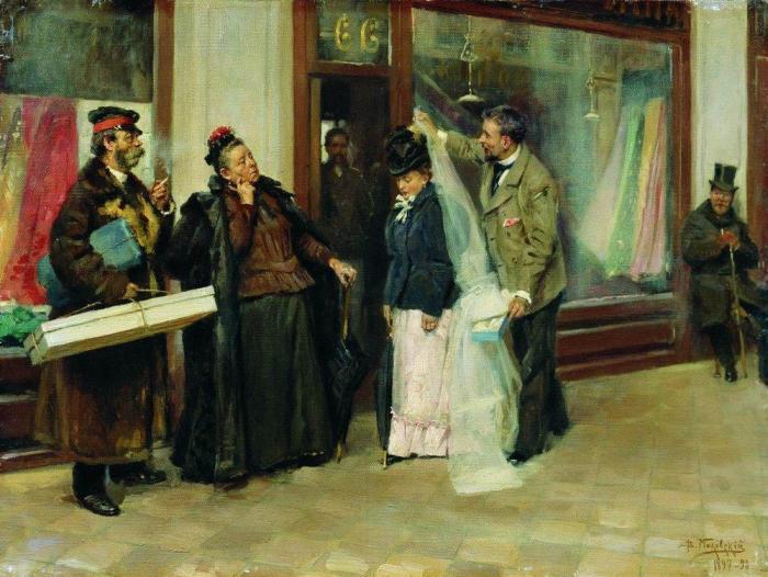 Известный художник-жанрист Владимир Маковский сравнения с Пукиревым не боялся: он писал свои свадебн