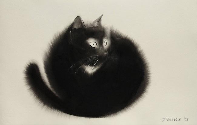 Боши— домашняя кошка художника.