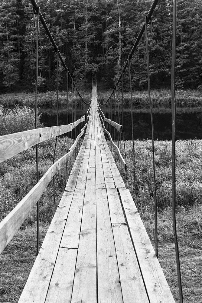 8. Черно-белый вариант. Фотографируем на Nikon D610 с объективом Nikon 24-70mm f/2.8G в походе выходного дня по Уралу.