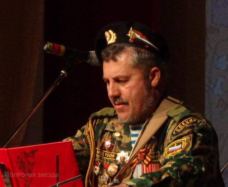 Александр Ешану - постоянный участник оленегорского фестиваля солдатской песни
