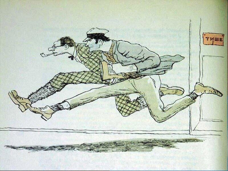 В погоне за... Иллюстрация к «Золотому теленку», 1969 год. КУКРЫНИКСЫ.jpg