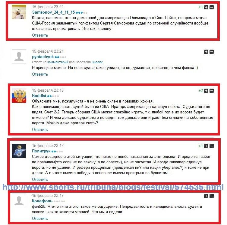 Россия - США комментарии после матча