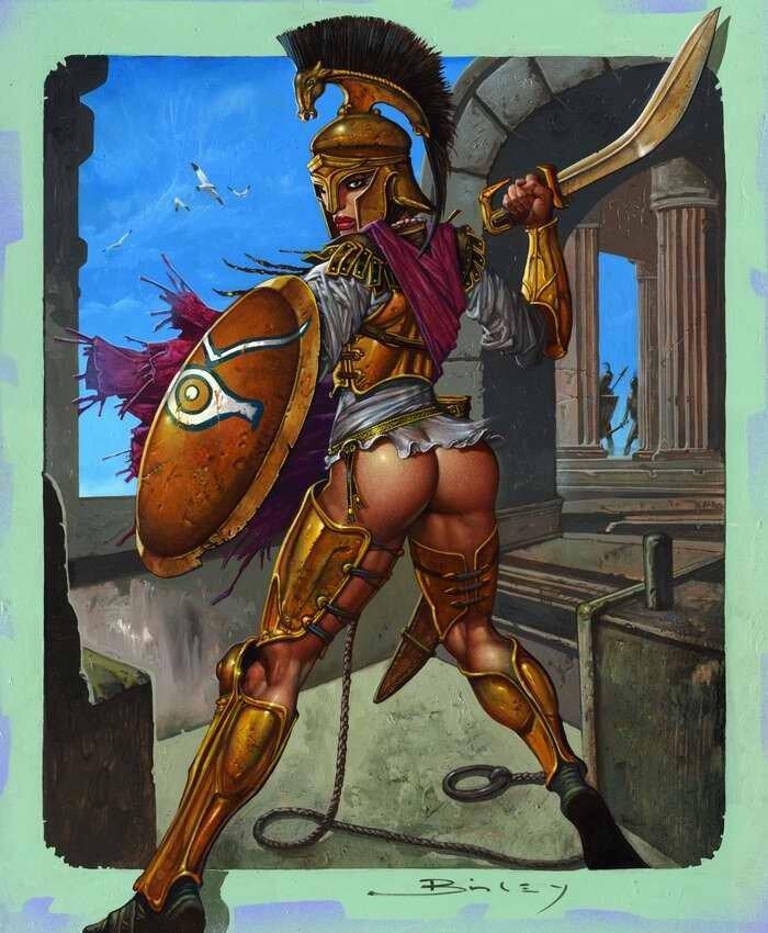 Челидонис (спартанская принцесса) - Simon Bisley