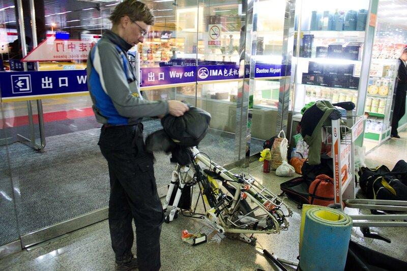 сбор велосипедов в аэропорту