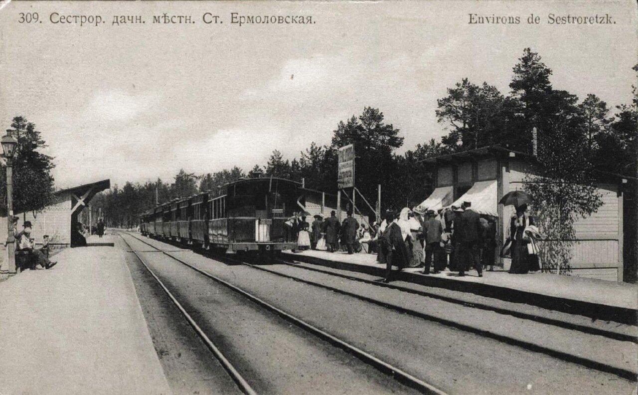 Сестрорецкая дачная местность. Станция Ермоловская
