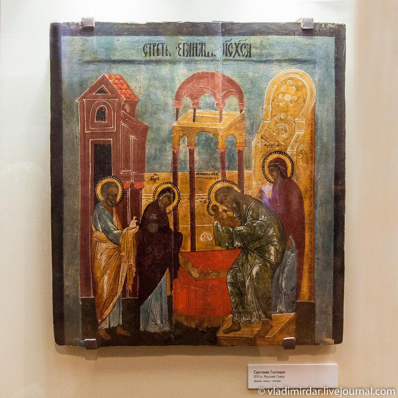 Сретение Господне. XVI век. Русский Север.