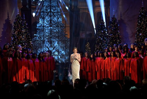 WASHINGTON, DC - DECEMBER 15: Singer Anna Kendrick performs onstage at TNT Christmas in Washington 2013 at the National Building Museum on December 15, 2013 in Washington, DC. 24313_002_0300.JPG (Photo by Theo Wargo/WireImage)