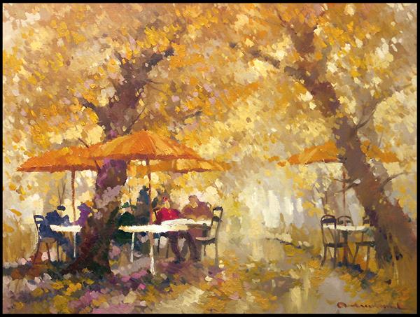 Кафе осенью в картинках