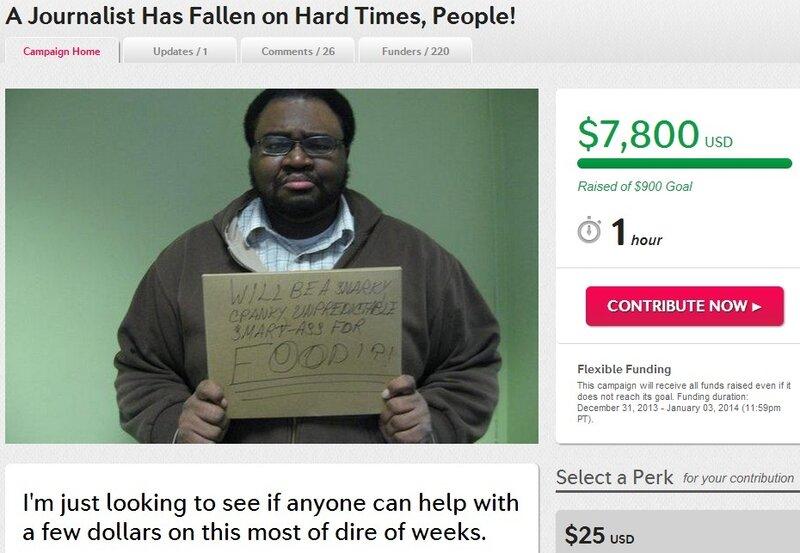 Безработный журналист собрал в интернете семь тысяч долларов на ренту