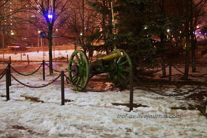 Пушка, Мемориал Парк Победы, Краснознаменск