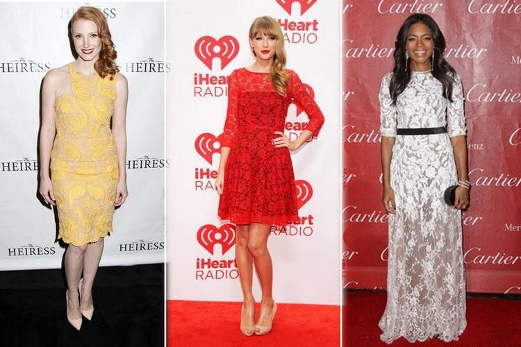Звезды в гипюровых платьев