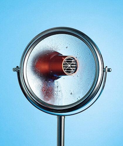 зеркало в ванной запотело