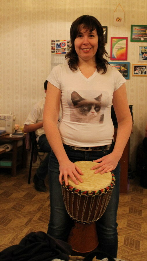 Женя с барабаном.