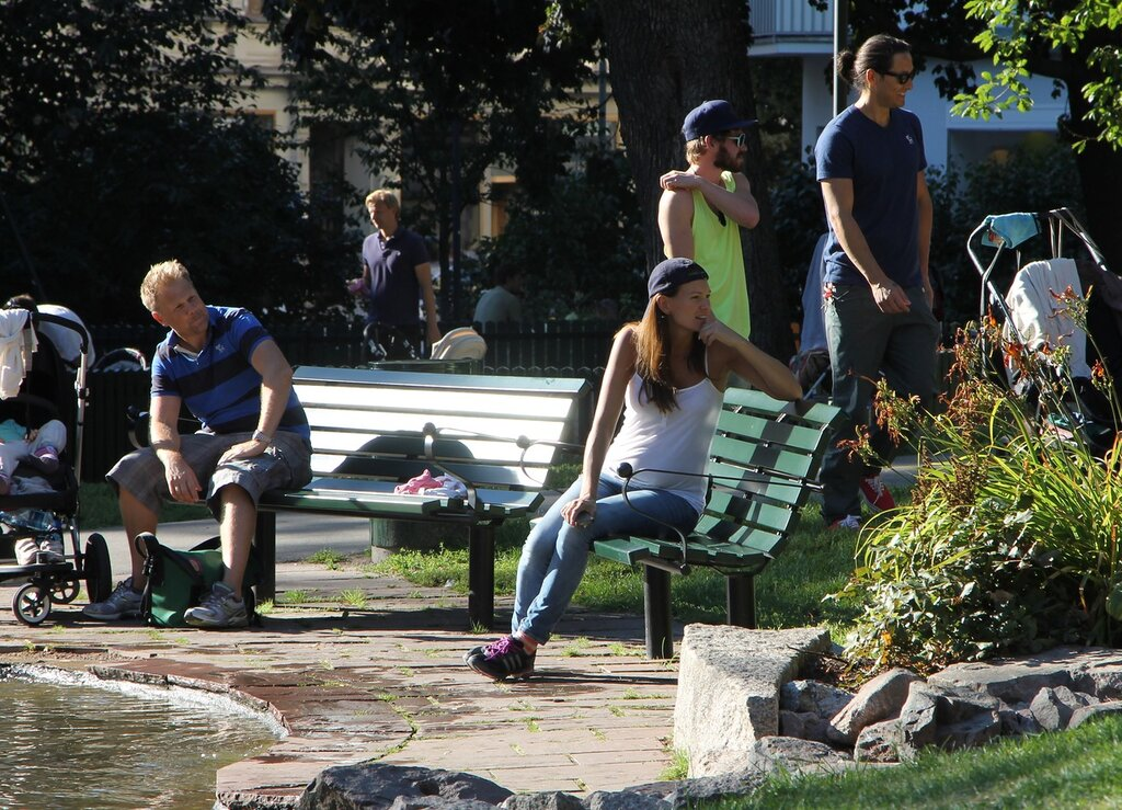 Stockholm, Tegnérlunden Stockholm garden.