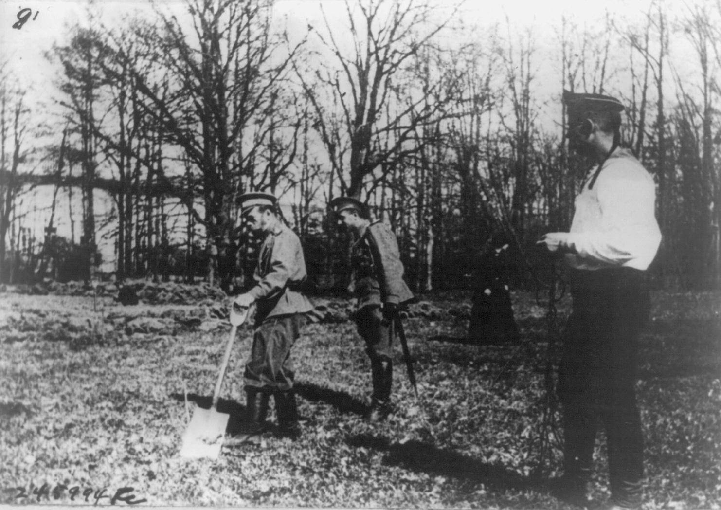 03-Николай II принимает участие в садовых работах