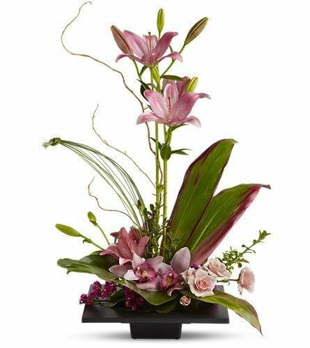 Изысканные японские цветочные композиции