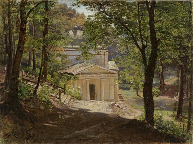 Ю.И. Феддерс «Монастырская церковь в лесу», 1887