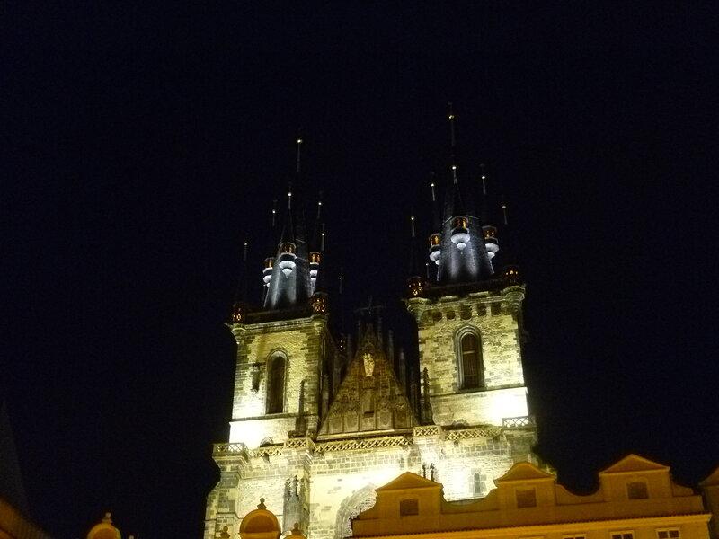 Чехия, Прага - Староместская площадь, Тынская церковь (Czech Republic, Prague - Old Town Square, Tyn Church)