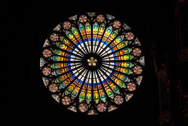 Страсбургский собор. Витраж розетки