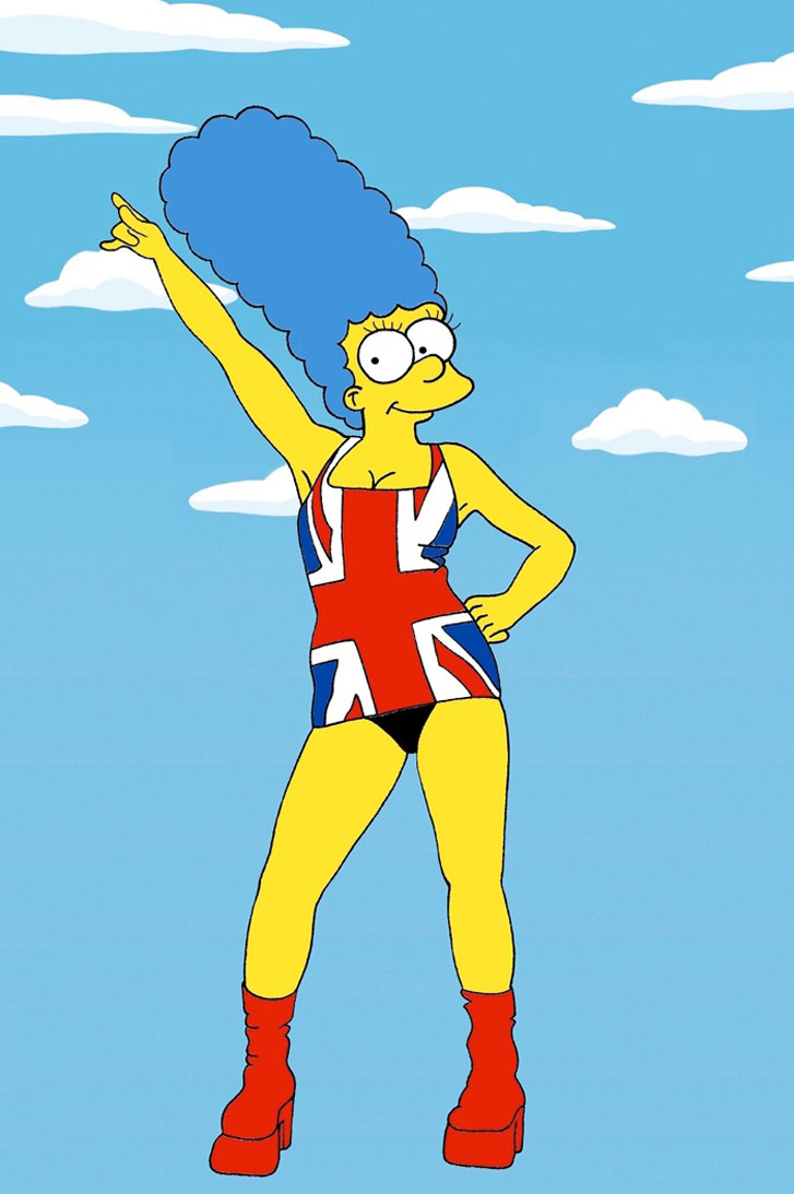 Marge Simpson as a Geri Halliwell - Style Icons in aleXsandro Palombo illustrations