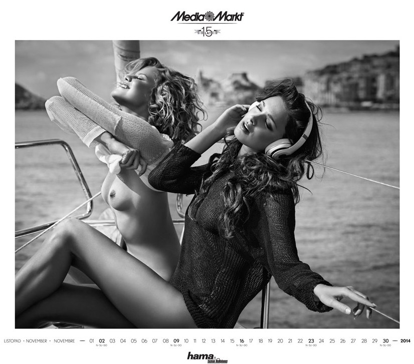 Эротический календарь сети магазинов Media Markt на 2014 год