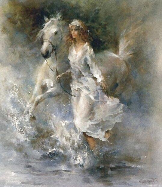 Акварели WILLEM HAENRAEТS. Настоящая вечность – Звёзды в гривах коней