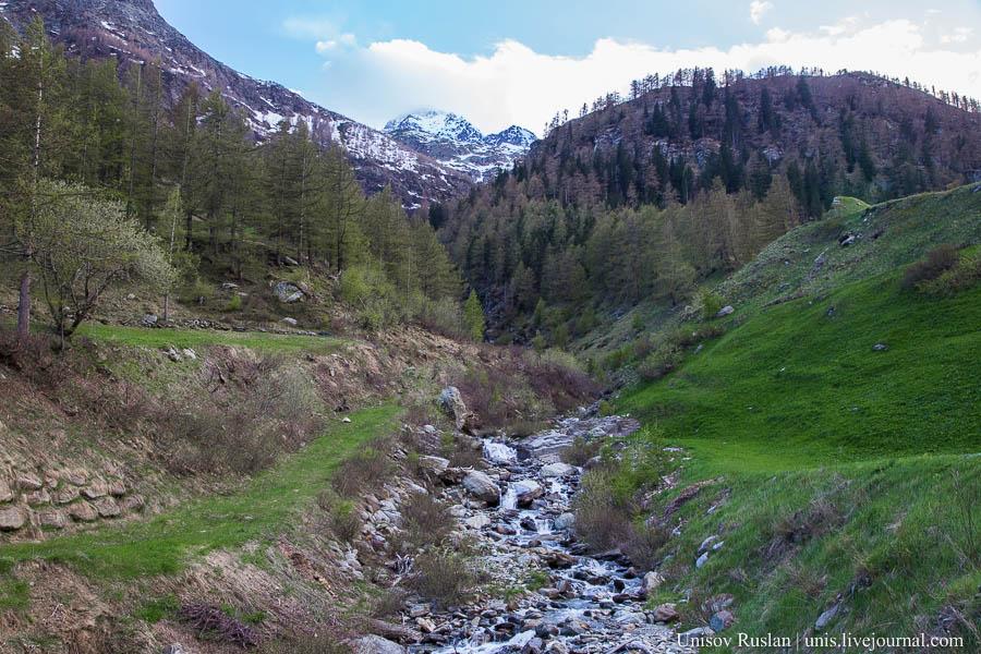 Перевал Симплон в Швейцарии