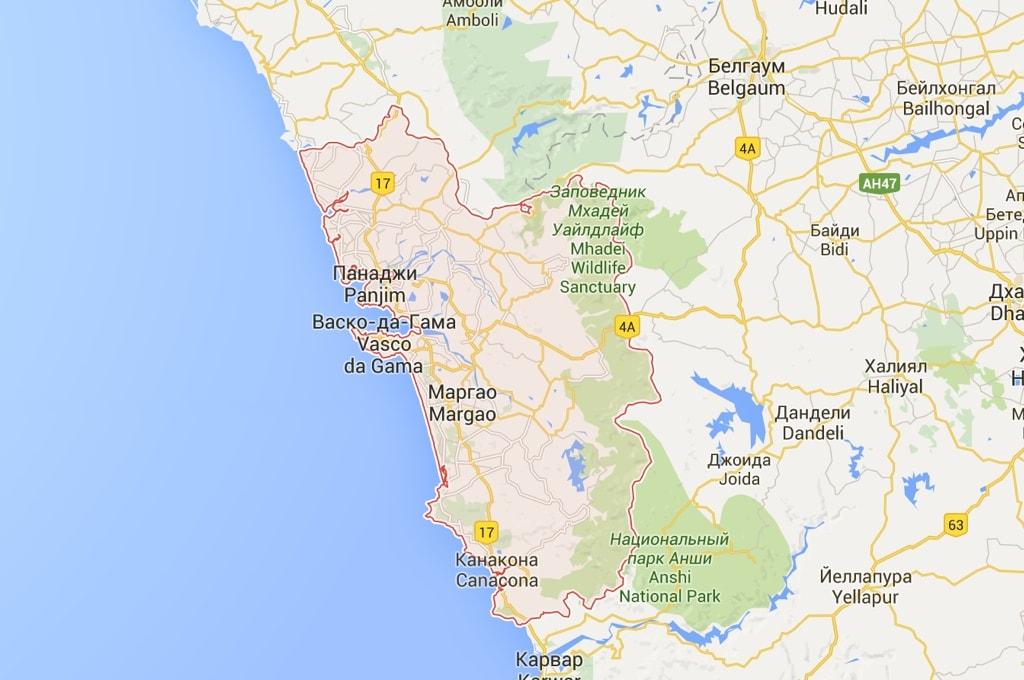 Ксати, Гоа самый маленький штат Индии