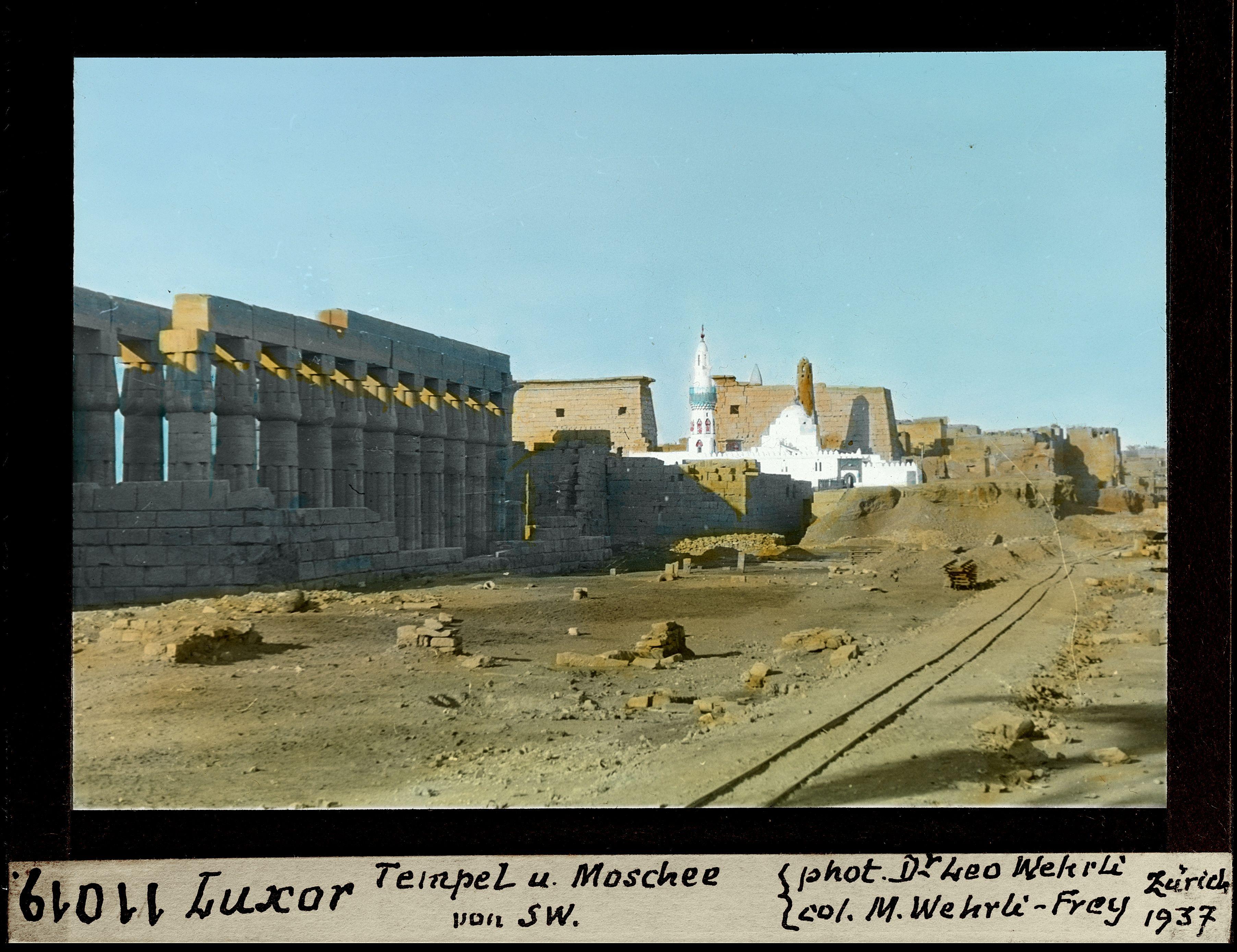 Луксорский храм и мечеть с юго-запада