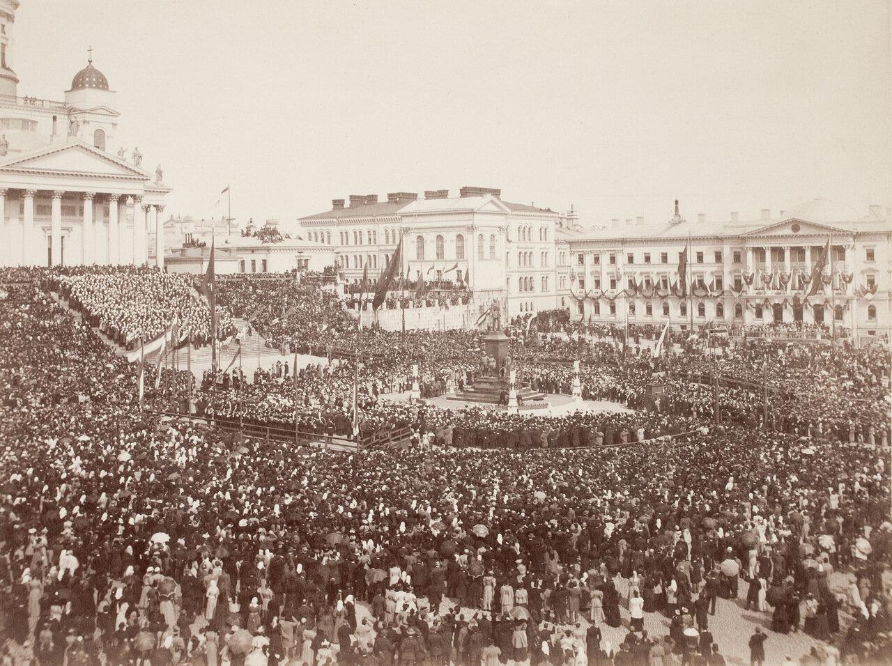 Открытие Александровского памятника в Гельсингфорсе 29.4.1894