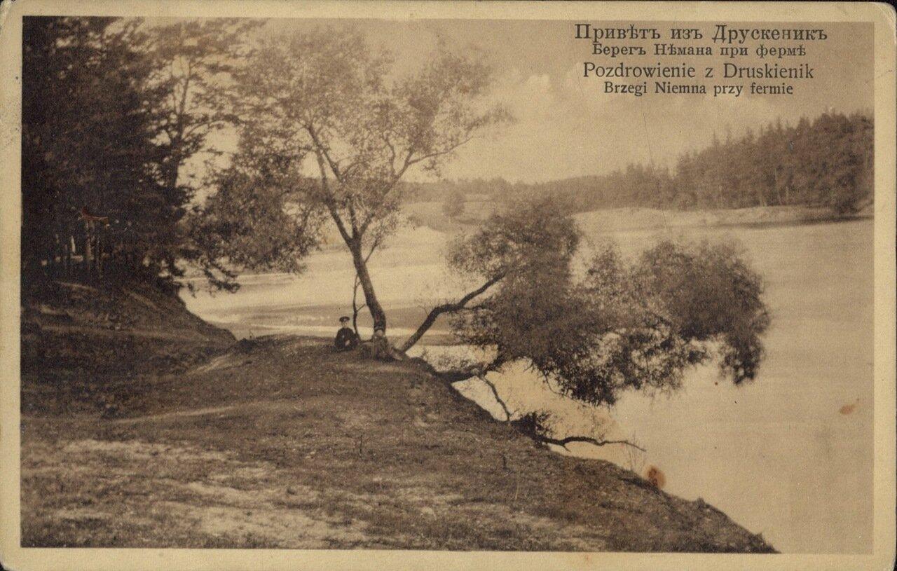 Берег Немана при ферме. 1910