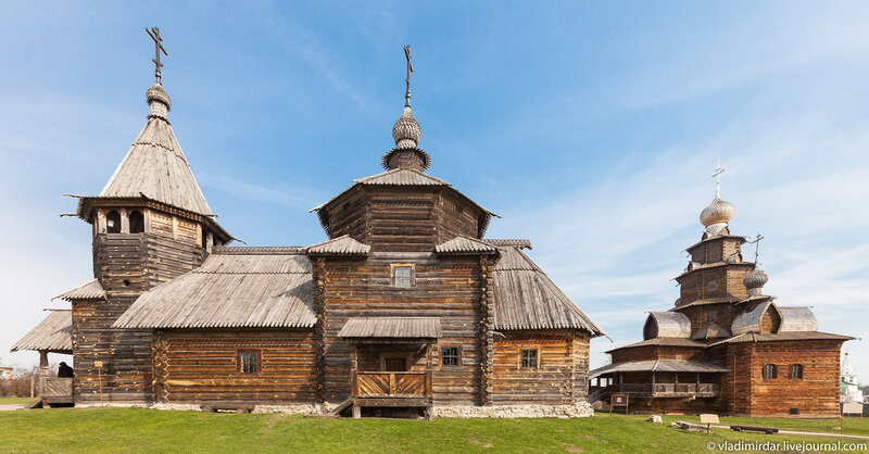Suzdal - Museum of wooden architecture or the Ghost of the Dmitrievsky Pechora Monastery, museum, church, churches, here, Suzdal, Suzdal, Dmitrievsky, now, like, wooden, this, place, very, territory, area, monastery, new, Here,