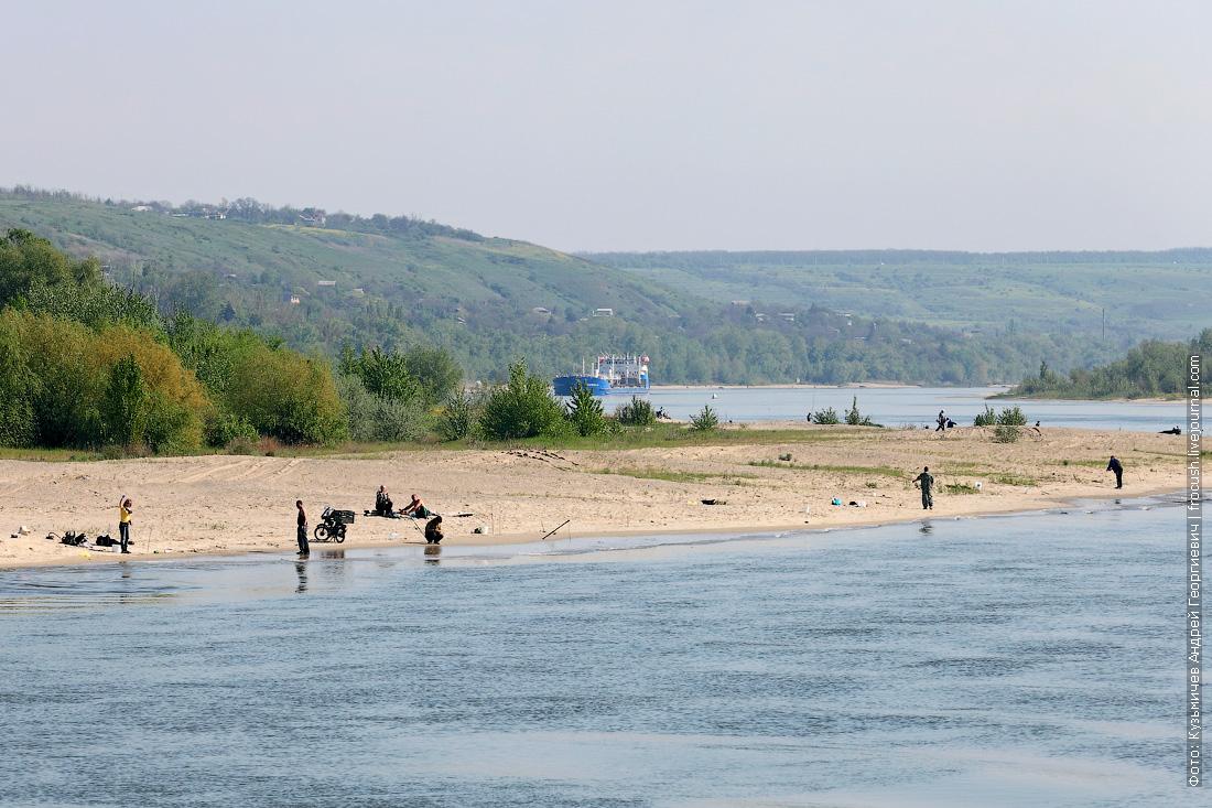 Песчаные отмели на Дону у станицы Мелиховская