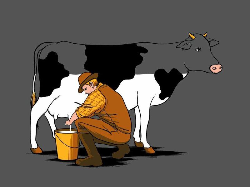 доим корову смешные картинки очень