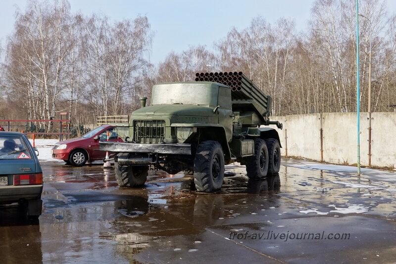 БМ-21, РСЗО 9К51 «Град» на шасси Урал-375Д, РОСТО Кузьминки, Москва