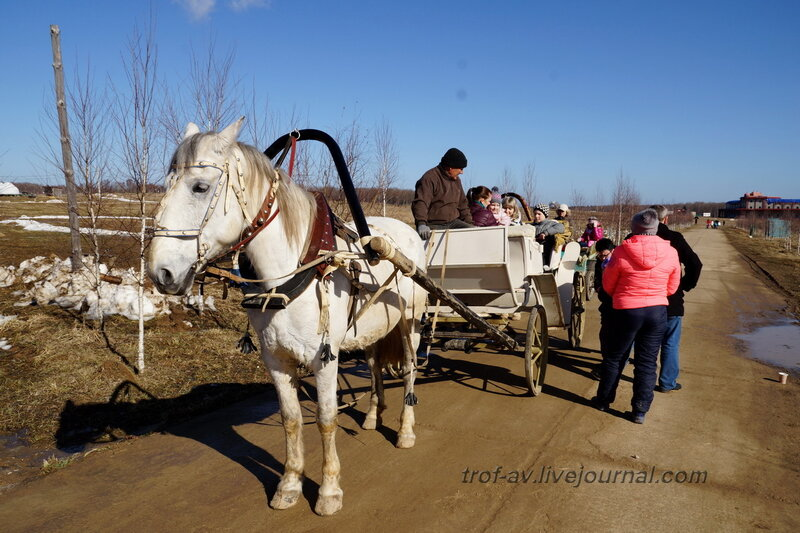 Катание на лошадях, Этномир, Калужская обл.