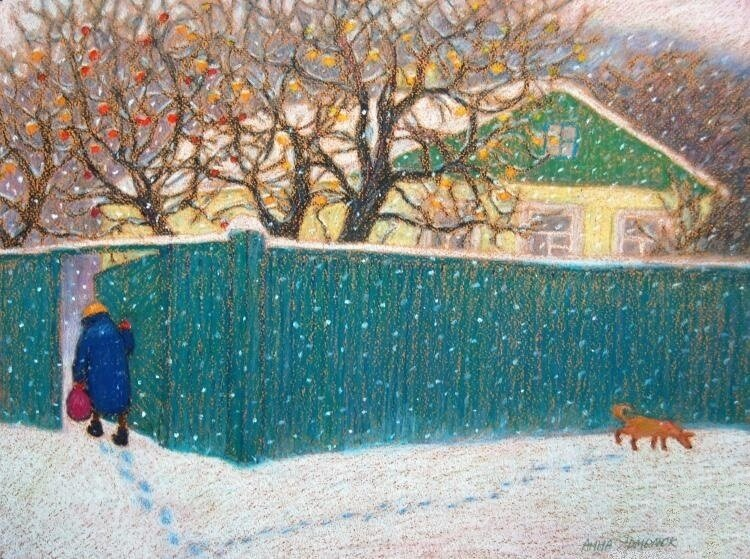 Анна Ярмолюк. Первый снег и последние яблоки