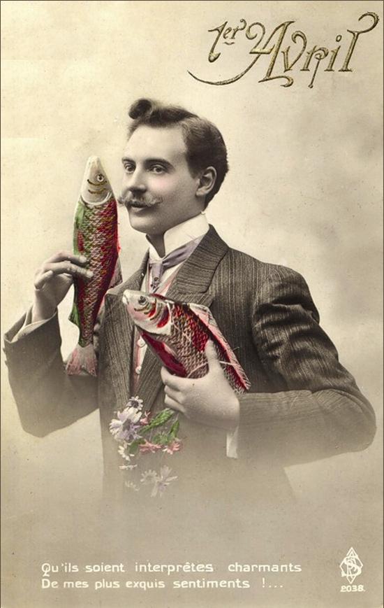 1 апреля. Джентельмен с рыбами