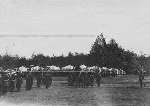 Приезд императора Николая II на храмовый праздник полка.
