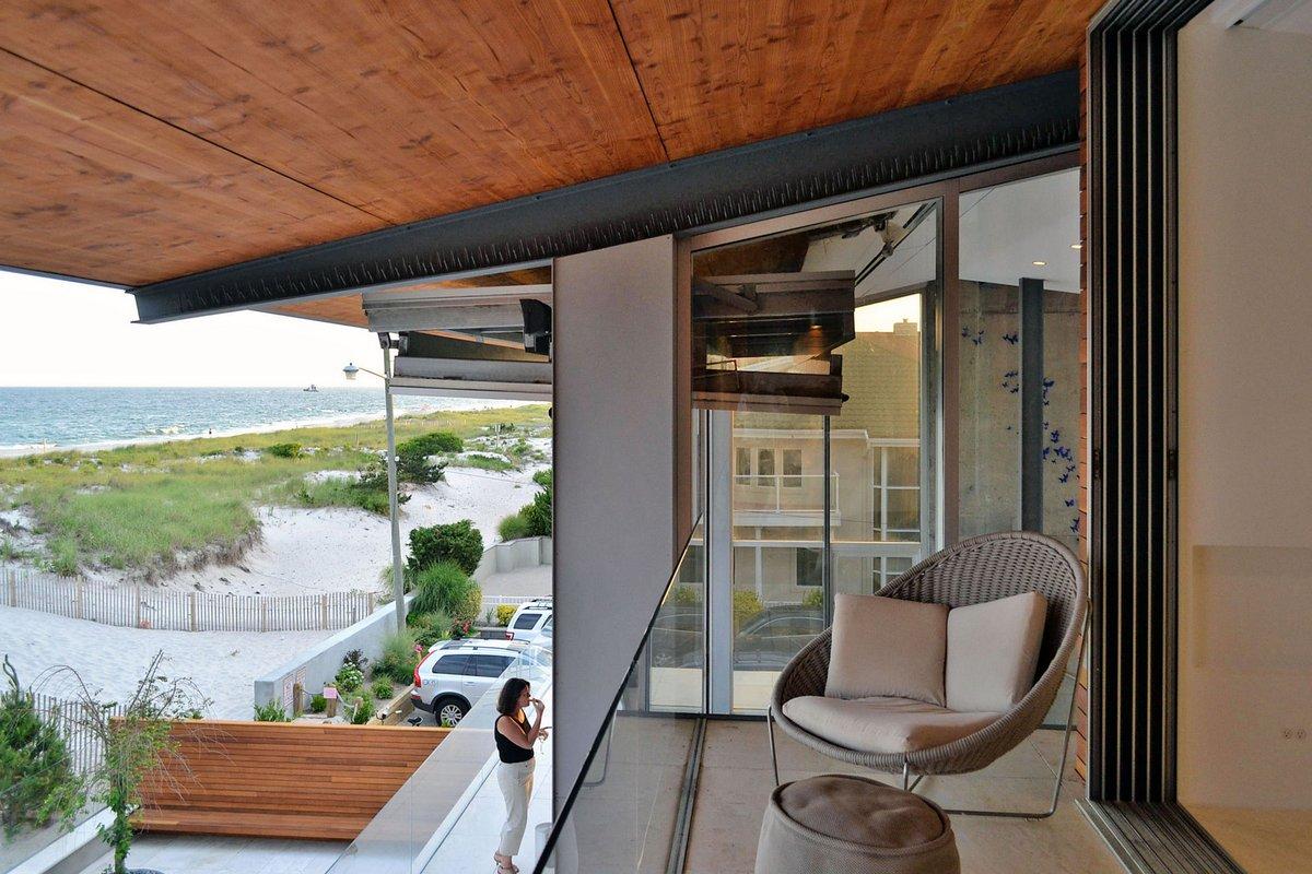 West Chin Architects, дома в Лонг-Бич, пляжный дом в США. дом на берегу Атлантического океана, дом на берегу моря, частный дом The Sea project