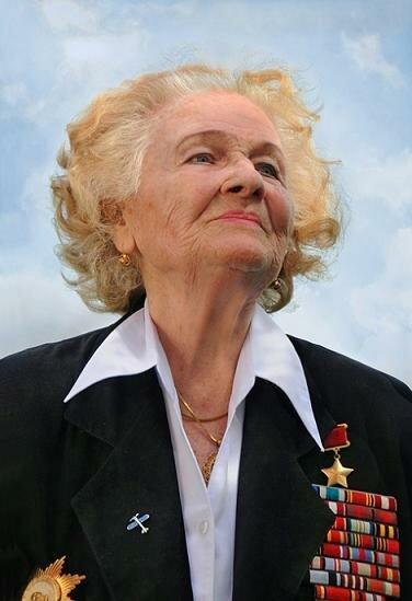 ГСС, гвардии майор запаса Надежда Васильевна Попова. Умерла в 2013.jpg