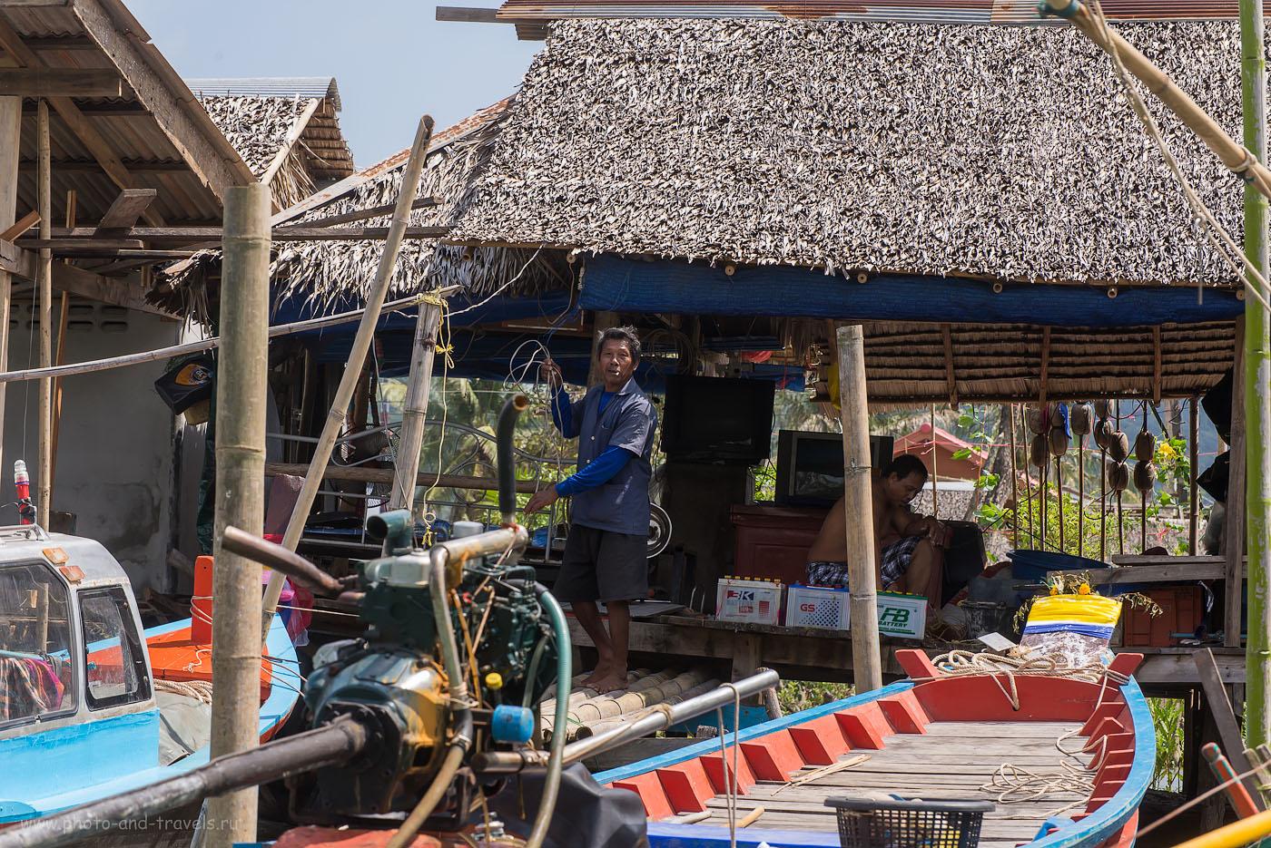 Фото 14. В рыбацкой деревне. Отдых в Таиланде дикарями. Поездка из Чумпхон в провинцию Краби на машине (320, 122, 9.0, 1/400)