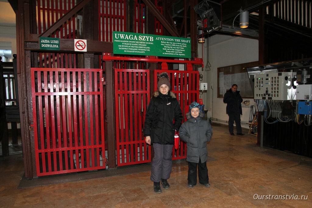 Лифт в Соляной шахте Величка