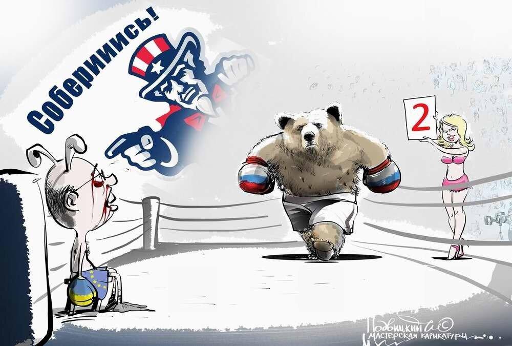 Россия и Украина - Карикатурист Виталий Подвицкий  (01)