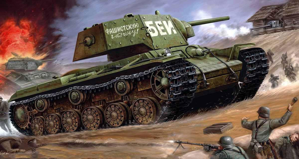 Бей фашистскую гадину! Советский тяжелый танк КВ-1 (Vincent Wei)