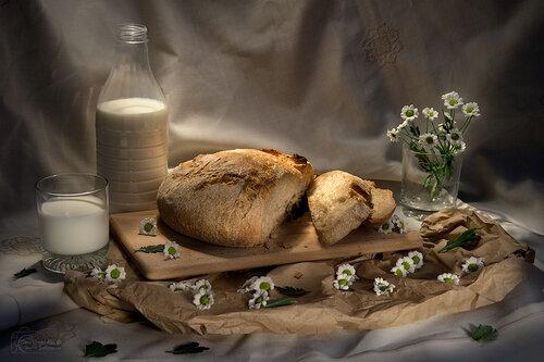 Хлеб с молоком