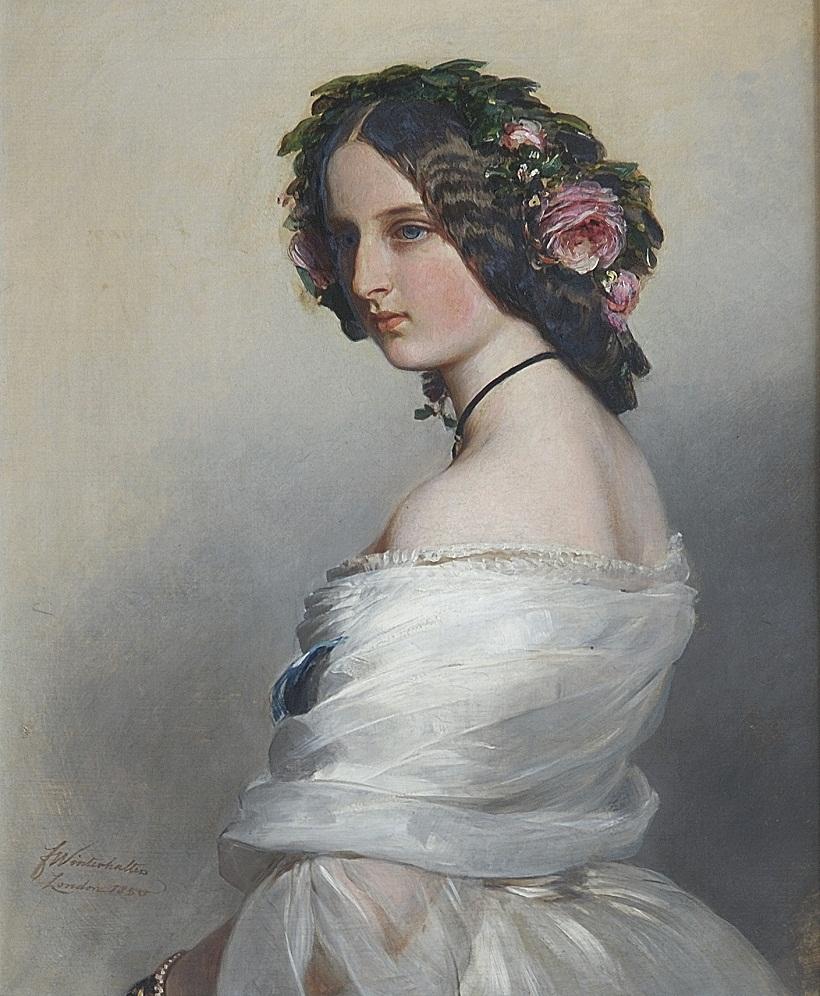Винтерхальтер (1805-73)Леди Констанс Левесон-Гауэр (1834-80), позже герцогиня Вестминстер  Подпись и дата 1850
