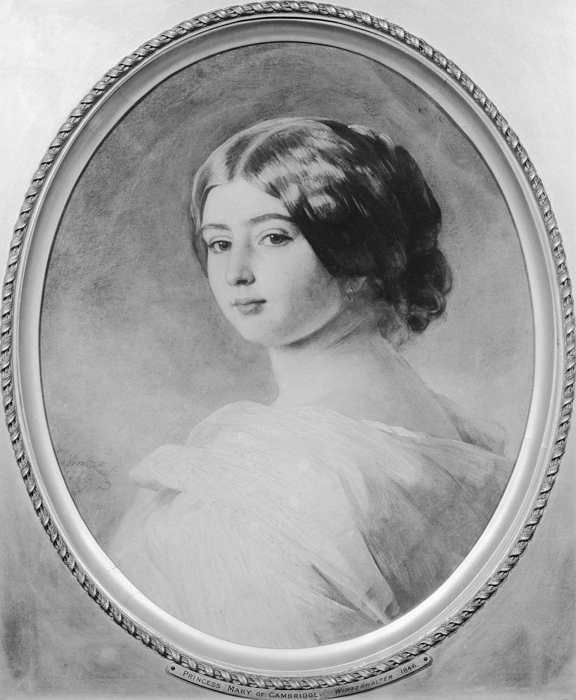 Принцесса Мэри Кембридж (1833-1897)  Подпись и дата 1846